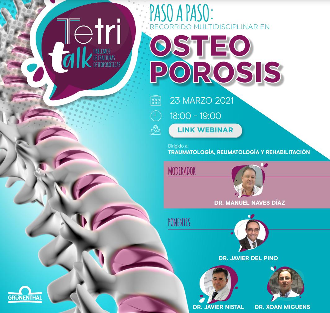 Paso a paso: Recorrido multidisciplinar en osteoporosis
